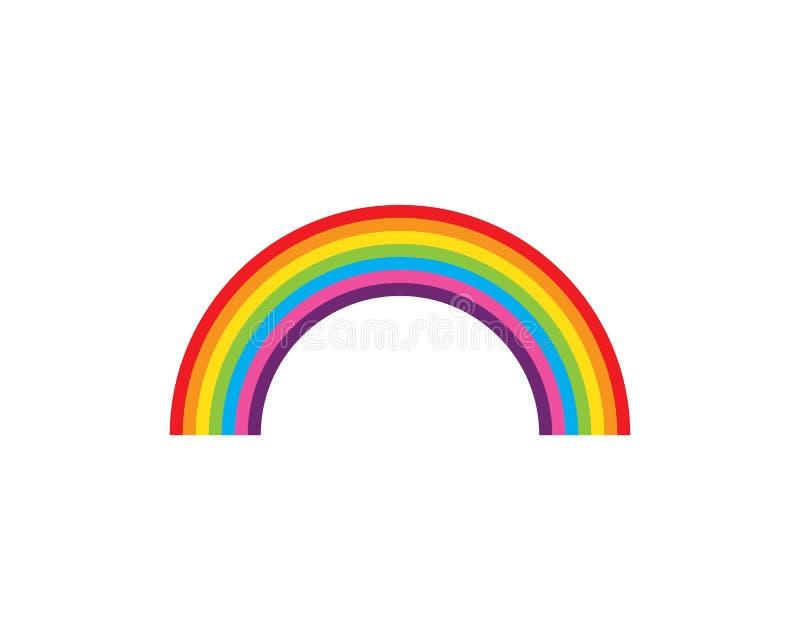 De vector van het regenboogembleem royalty-vrije illustratie