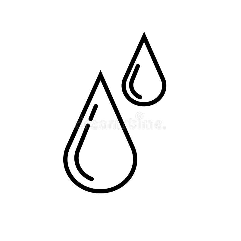 De Vector van het regendruppelspictogram stock illustratie