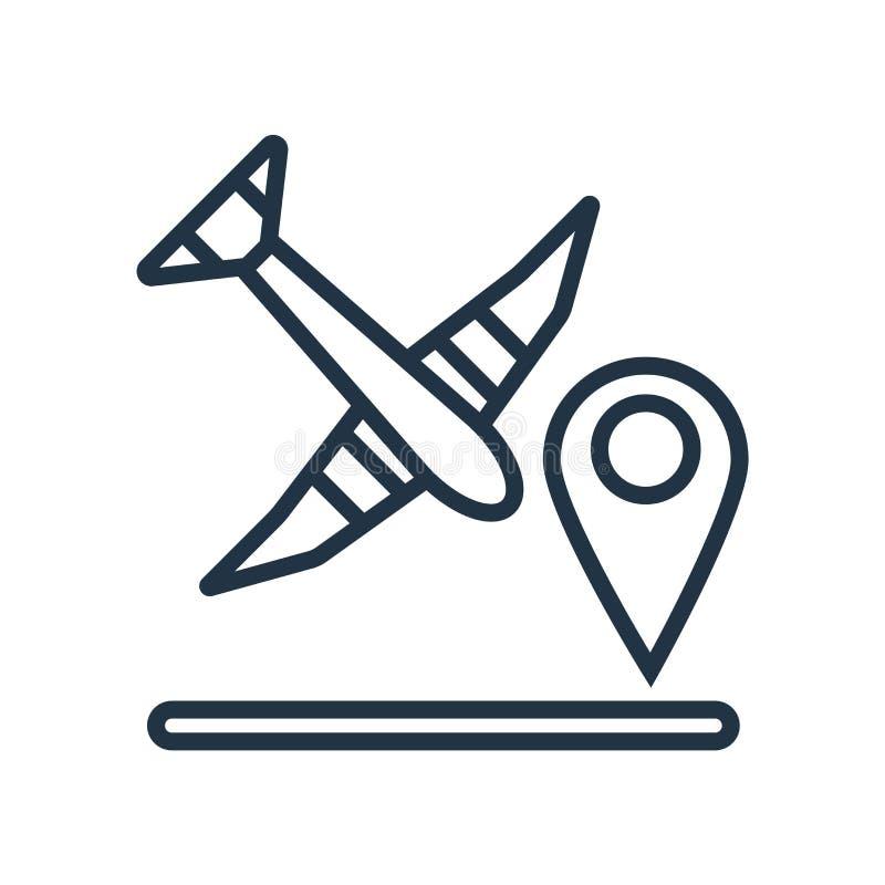 De vector van het reisroutepictogram op witte achtergrond, Reisrouteteken wordt geïsoleerd dat vector illustratie