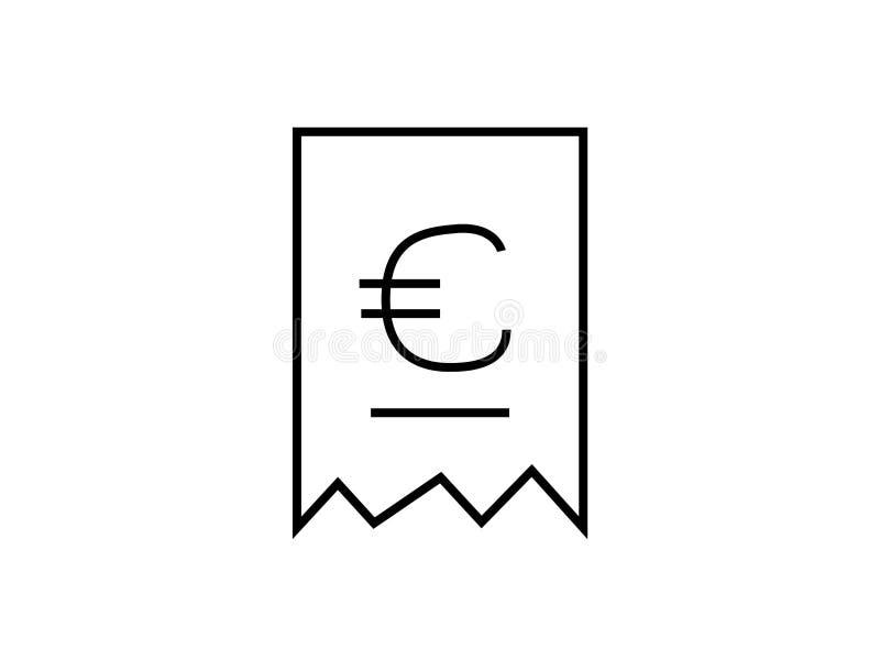 De vector van het rekeningssymbool royalty-vrije illustratie