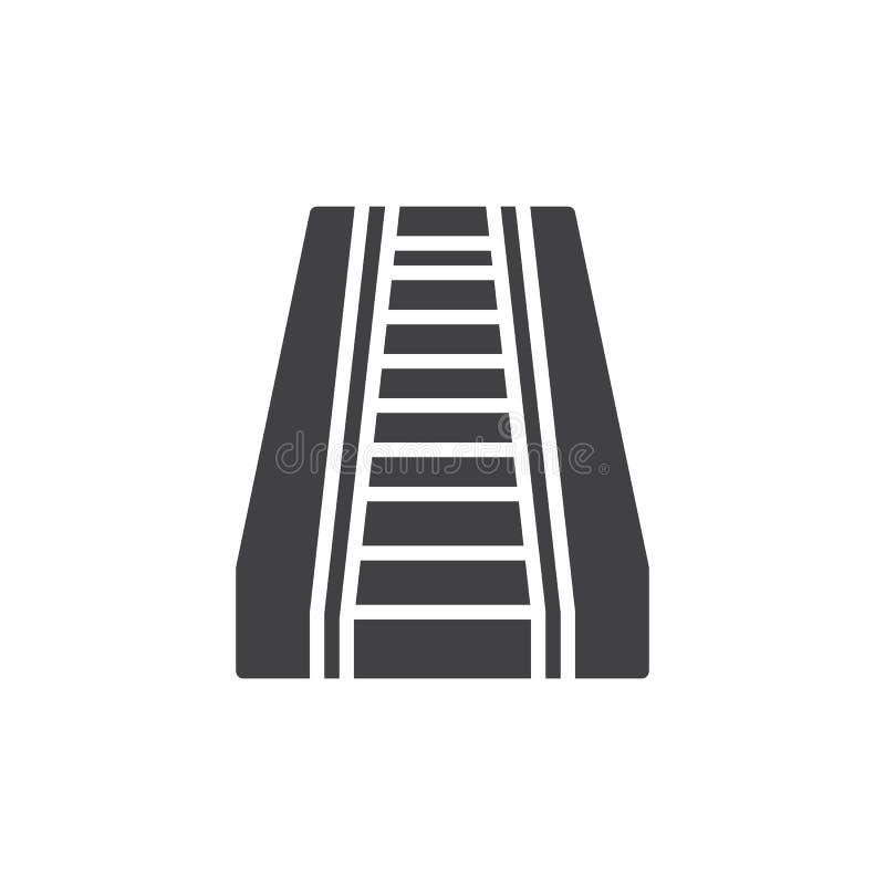 De vector van het roltrappictogram royalty-vrije illustratie