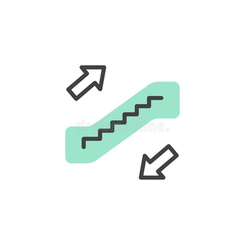 De vector van het roltrappictogram stock illustratie