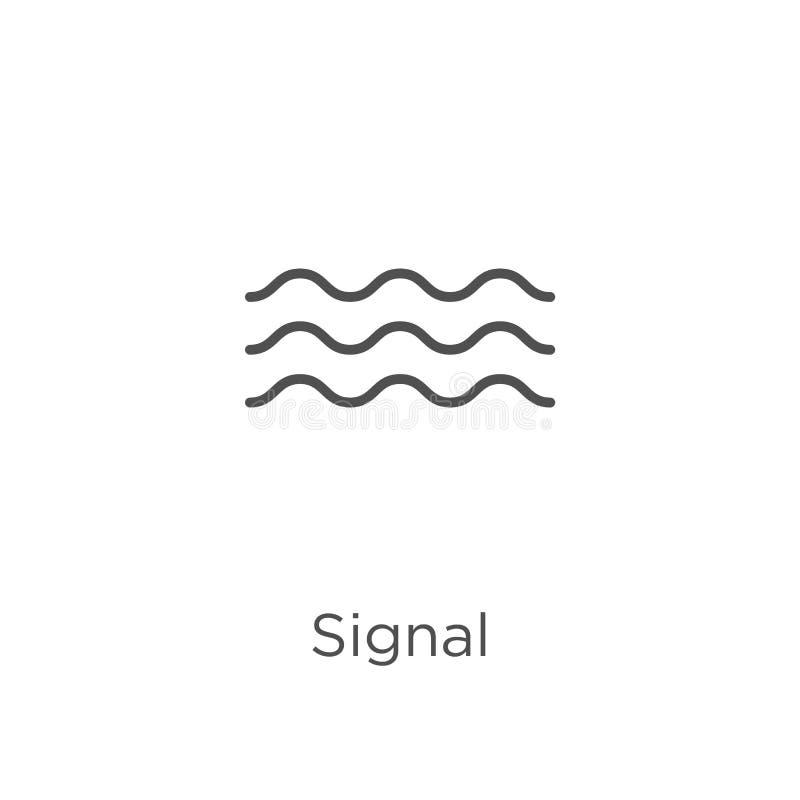 de vector van het signaalpictogram van g-inzameling De dunne van het het overzichtspictogram van het lijnsignaal vectorillustrati vector illustratie