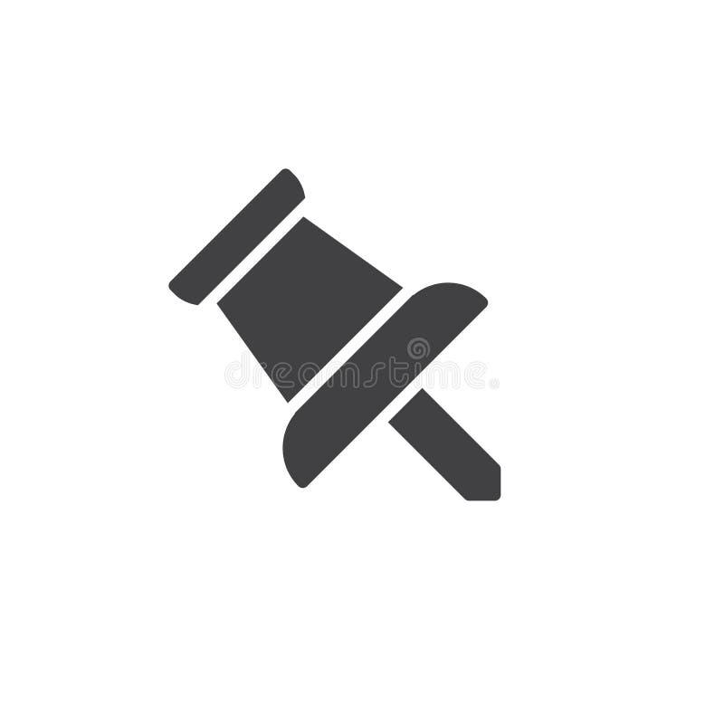 De vector van het speldpictogram stock illustratie