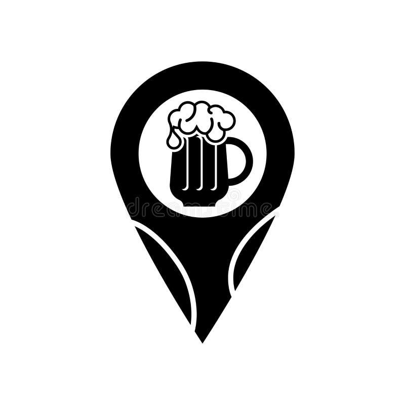 De vector van het speldpictogram op witte achtergrond, Speldteken, biersymbolen wordt geïsoleerd dat vector illustratie
