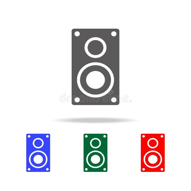 De Vector van het sprekerspictogram Elementen in multi gekleurde pictogrammen voor mobiel concept en Web apps Pictogrammen voor w royalty-vrije illustratie