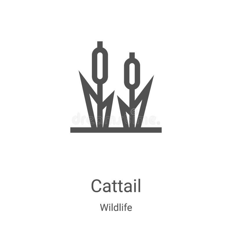 de vector van het staartpictogram van wildlife inzameling De dunne vectorillustratie van het overzichtspictogram van de lijnstaar vector illustratie