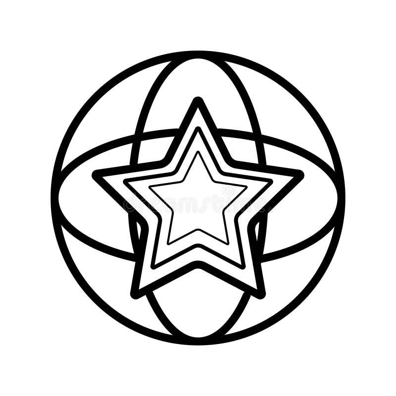 De Vector van het sterpictogram stock illustratie