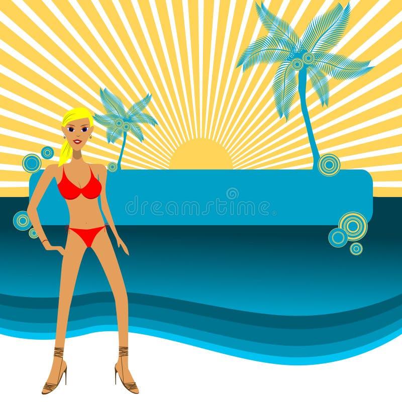 De Vector van het strand vector illustratie