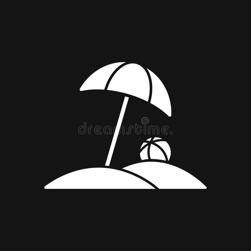 De vector van het strandpictogram van vakantie en toerisme, de zomersymbool royalty-vrije illustratie