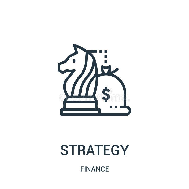 de vector van het strategiepictogram van financiëninzameling De dunne van het het overzichtspictogram van de lijnstrategie vector vector illustratie