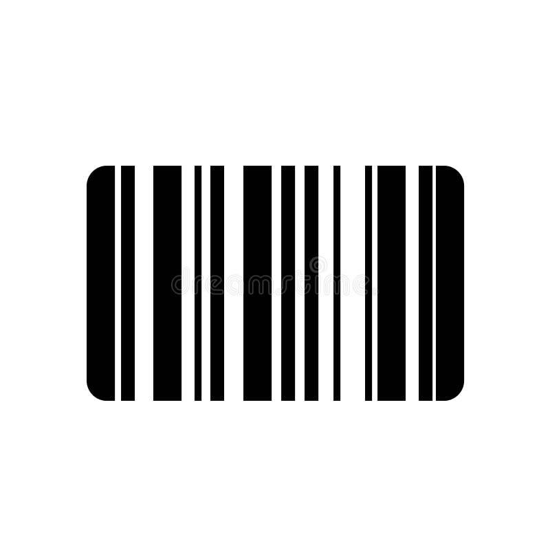 De vector van het streepjescodepictogram stock illustratie