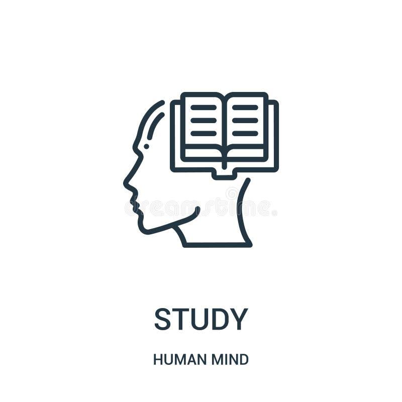 de vector van het studiepictogram van menselijke meningsinzameling De dunne van het het overzichtspictogram van de lijnstudie vec stock illustratie