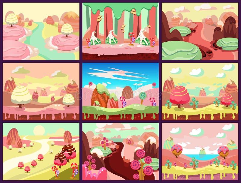 De Vector van het suikergoedland royalty-vrije illustratie