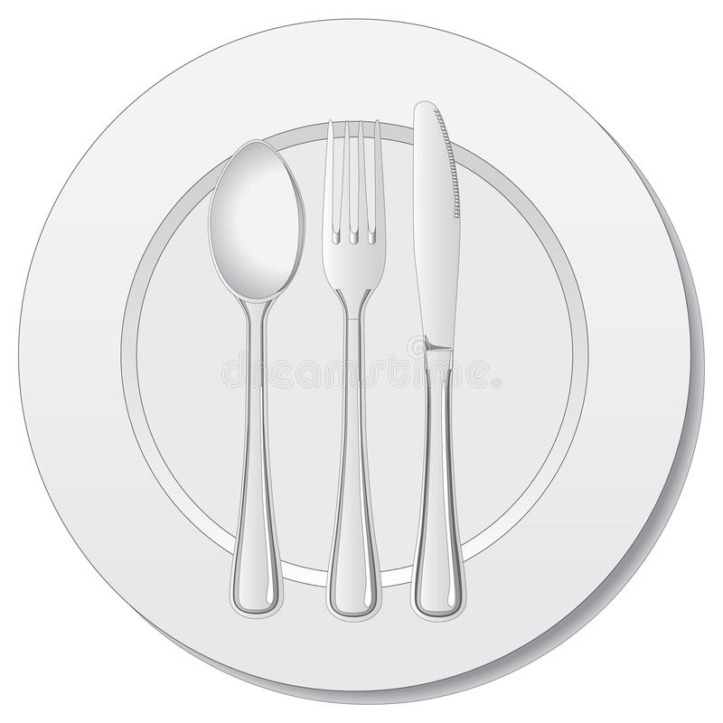 De vector van het tafelzilver vector illustratie