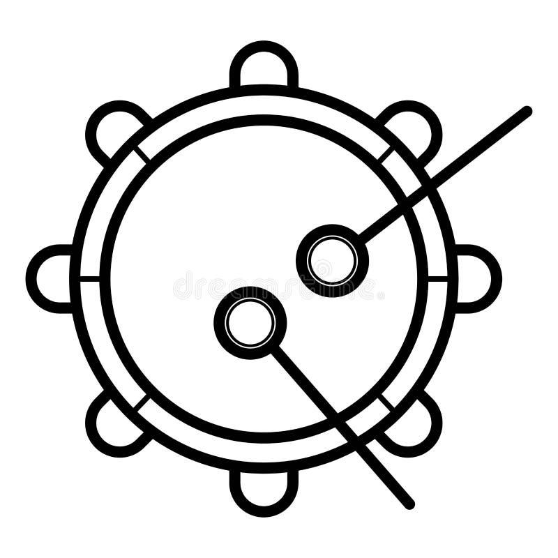 De Vector van het tamboerijnpictogram royalty-vrije illustratie
