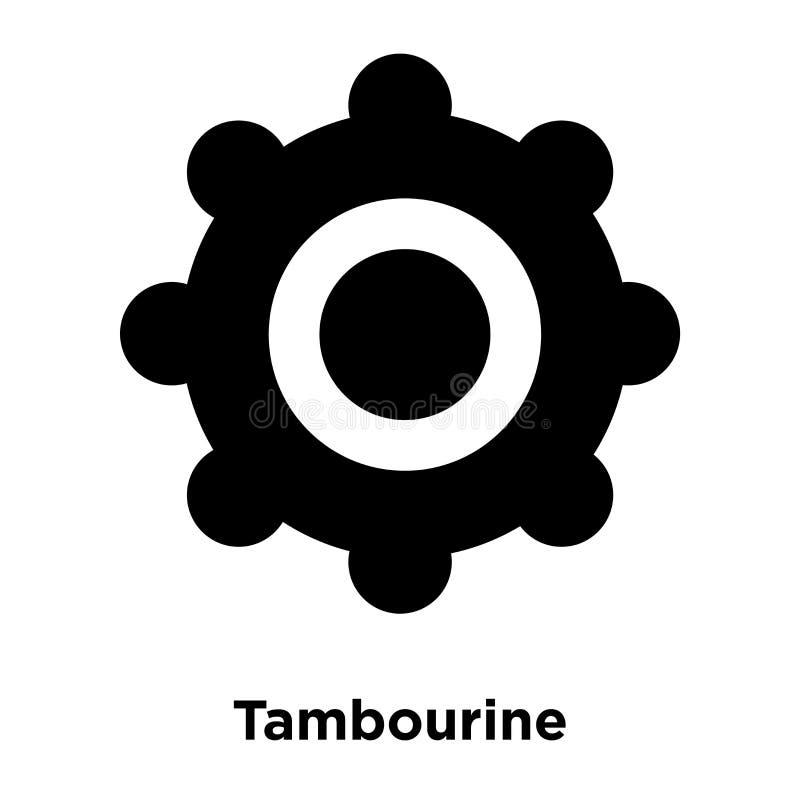 De vector van het tamboerijnpictogram op witte achtergrond, embleem wordt geïsoleerd dat concep vector illustratie