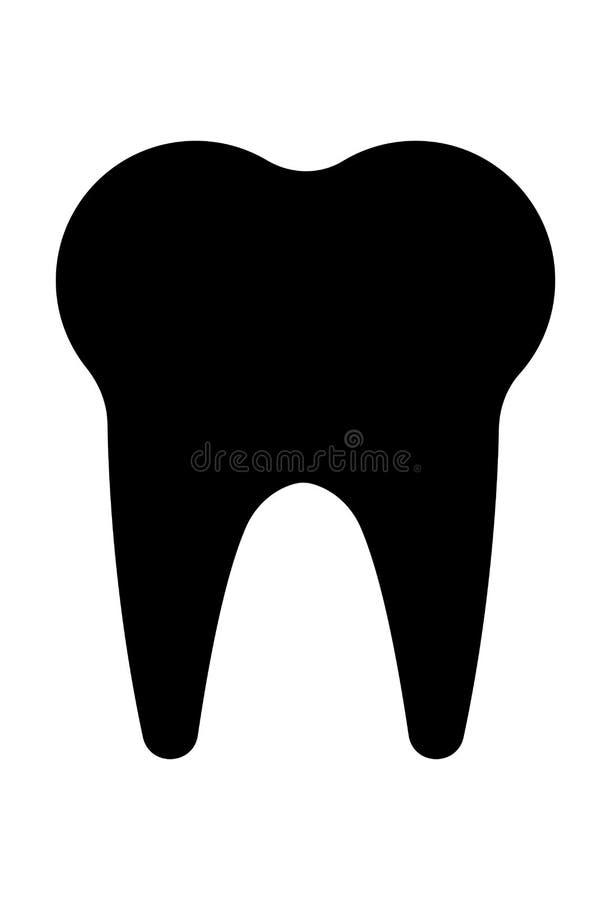 De vector van het tandpictogram royalty-vrije illustratie