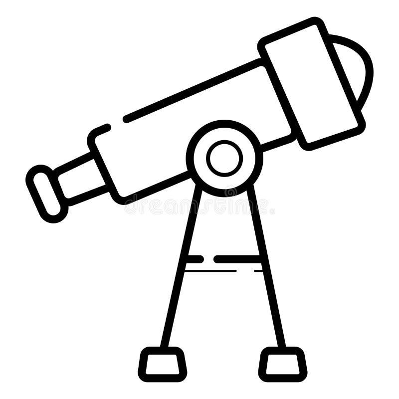 De Vector van het telescooppictogram stock illustratie