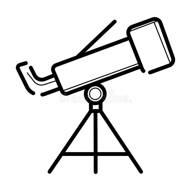 De Vector van het telescooppictogram royalty-vrije illustratie