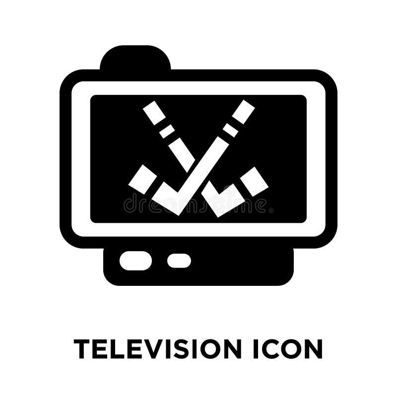 De vector van het televisiepictogram op witte achtergrond, embleem wordt geïsoleerd dat concep vector illustratie