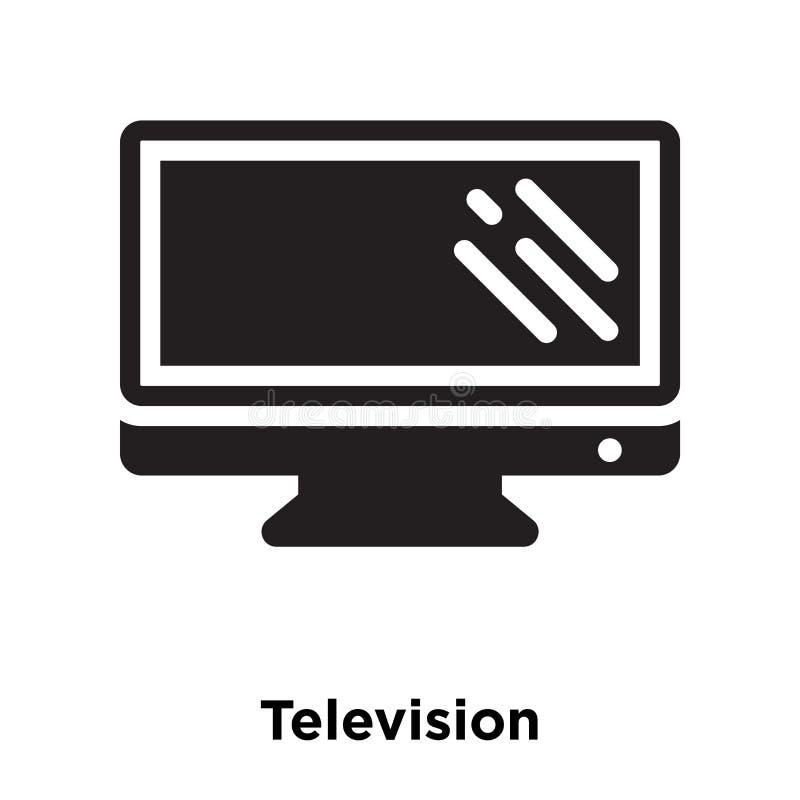 De vector van het televisiepictogram op witte achtergrond, embleem wordt geïsoleerd dat concep royalty-vrije illustratie