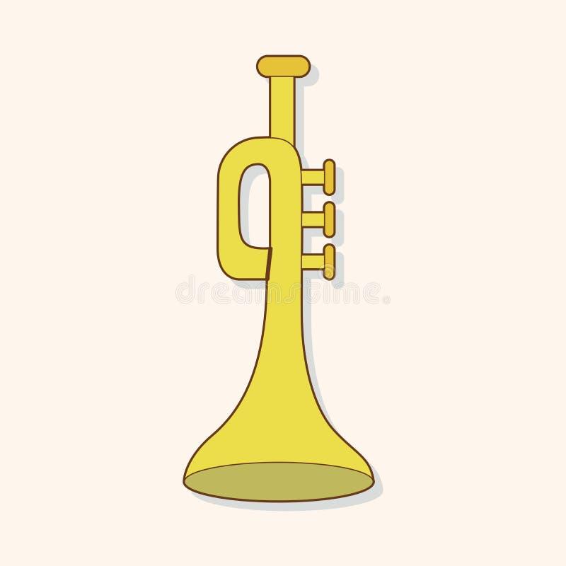 De vector van het themaelementen van de muziektrompet, eps stock illustratie