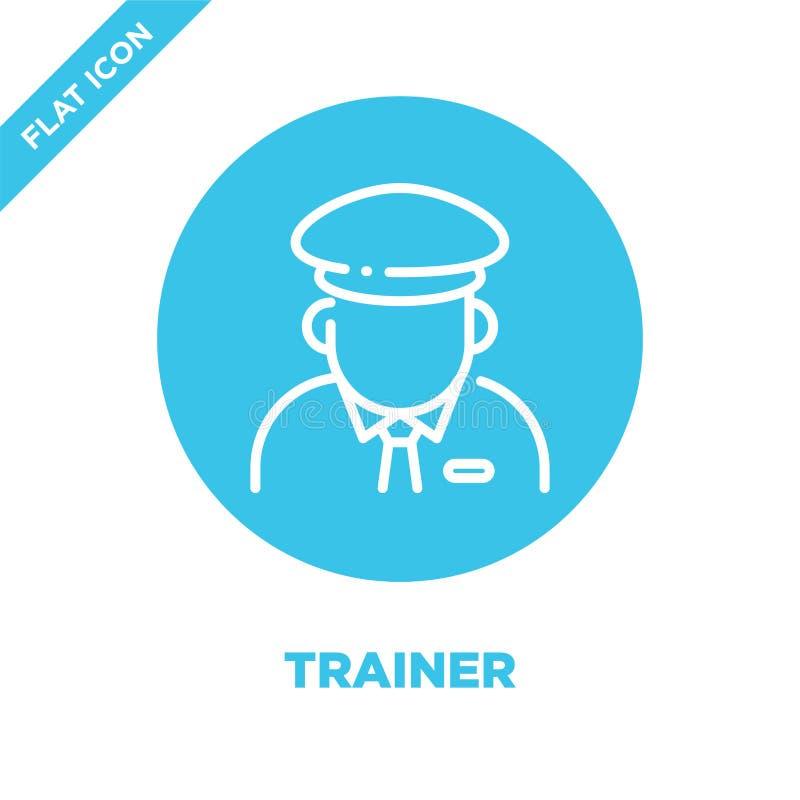 de vector van het trainerpictogram De dunne van het het overzichtspictogram van de lijntrainer vectorillustratie trainersymbool v royalty-vrije illustratie