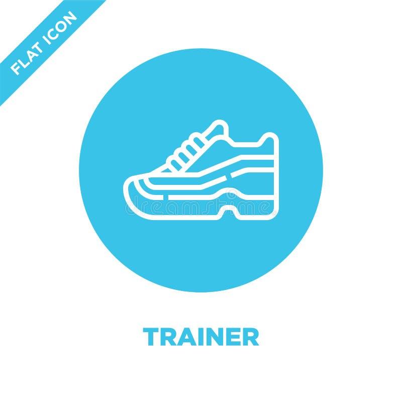 de vector van het trainerpictogram van gezonde het levensinzameling De dunne van het het overzichtspictogram van de lijntrainer v stock illustratie