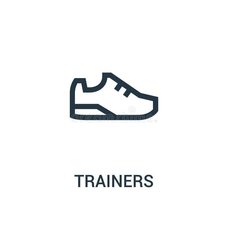 de vector van het trainerspictogram van gymnastiekinzameling De dunne van het het overzichtspictogram van lijntrainers vectorillu stock illustratie