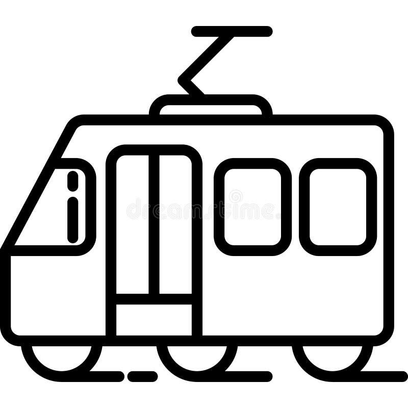 De vector van het trampictogram royalty-vrije illustratie