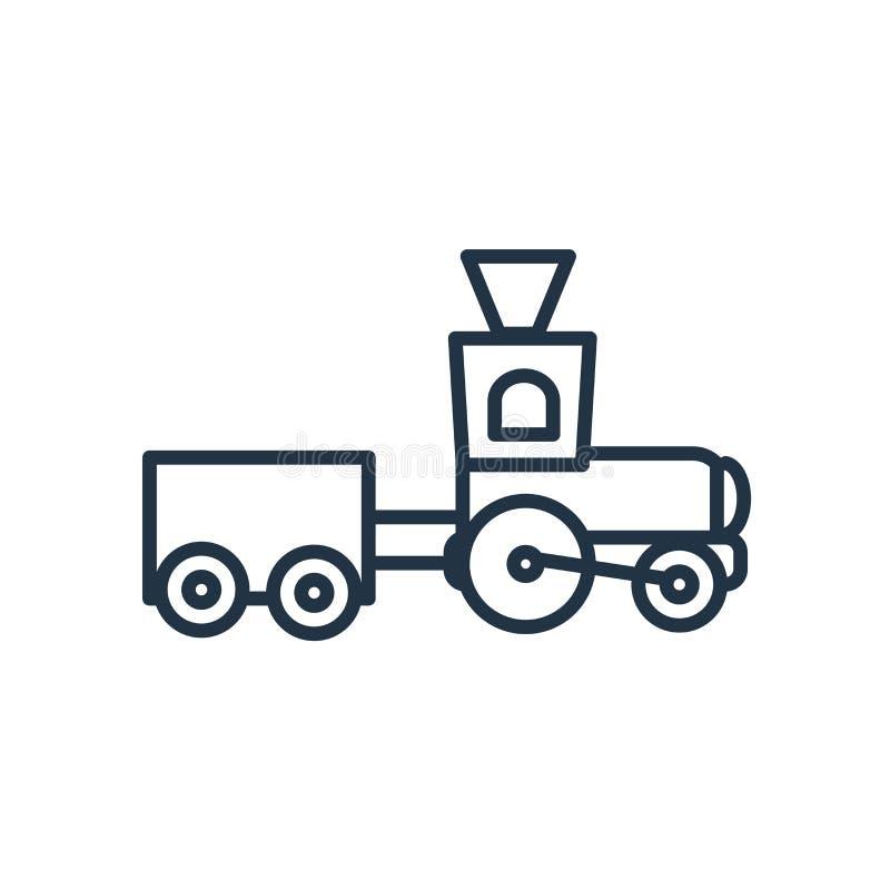 De vector van het treinpictogram op witte achtergrond, Treinteken wordt geïsoleerd dat stock illustratie