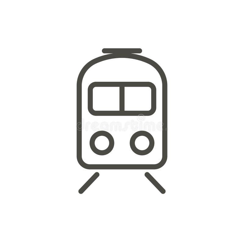 De Vector van het treinpictogram Het symbool van de lijnmetro stock illustratie