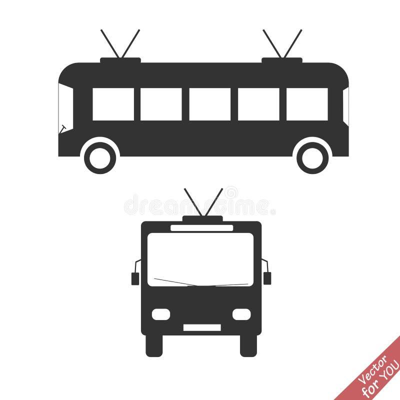 De vector van het trolleybuspictogram stock illustratie