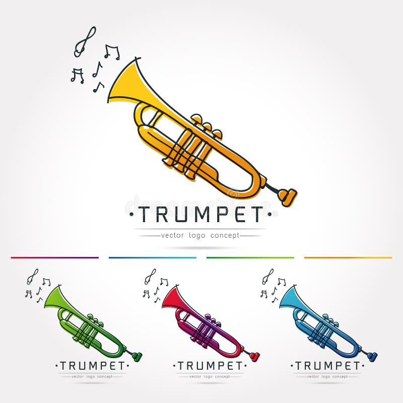 De vector van het trompetembleem royalty-vrije illustratie