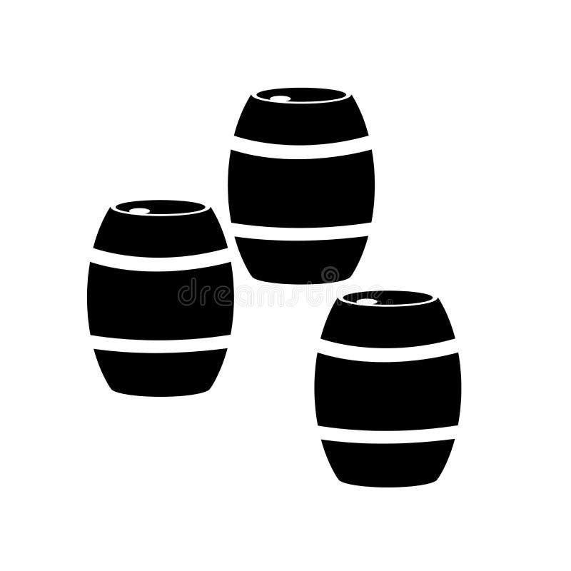 De vector van het vatpictogram op witte achtergrond, Vatteken, biersymbolen wordt geïsoleerd dat royalty-vrije illustratie