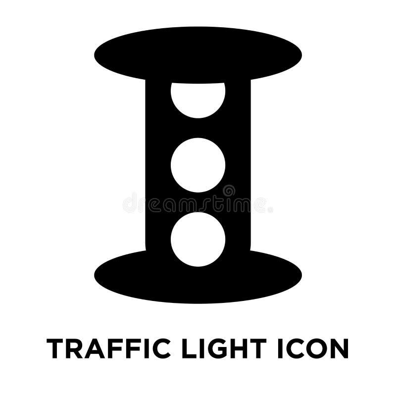 De vector van het verkeerslichtpictogram op witte achtergrond, embleem wordt geïsoleerd dat bedriegt stock illustratie