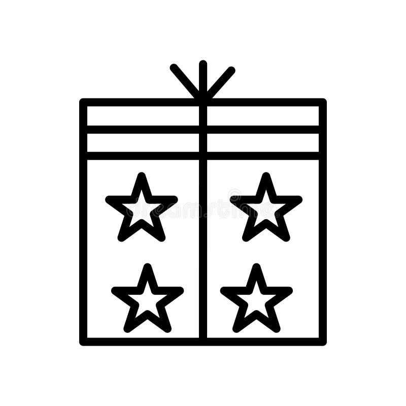 De vector van het verpakkingspictogram op witte achtergrond, Verpakkende teken, lijn en overzichtselementen in lineaire stijl wor royalty-vrije illustratie