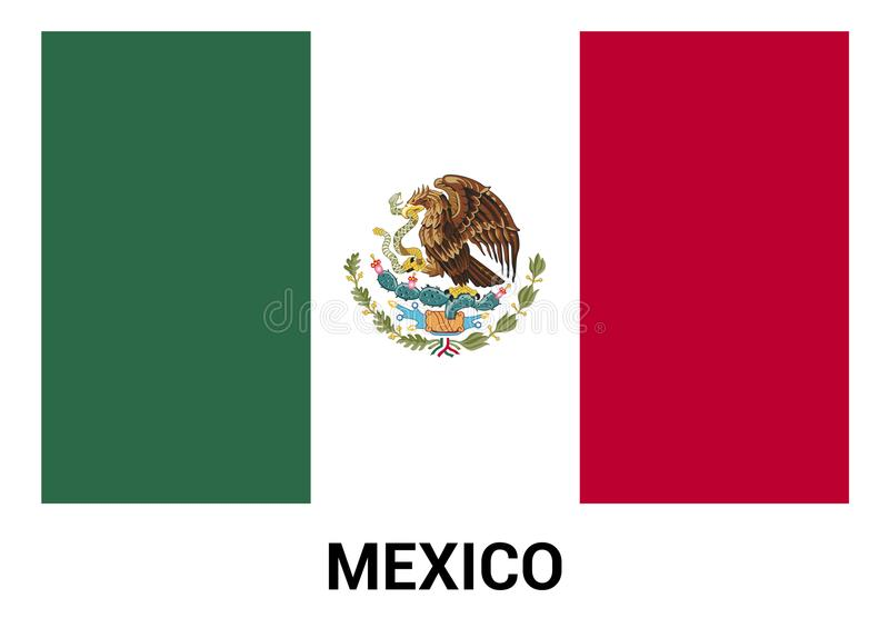 De vector van het de vlagontwerp van Mexico vector illustratie