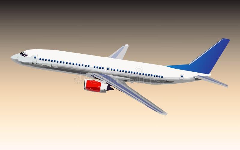 Vliegtuigvector royalty-vrije illustratie