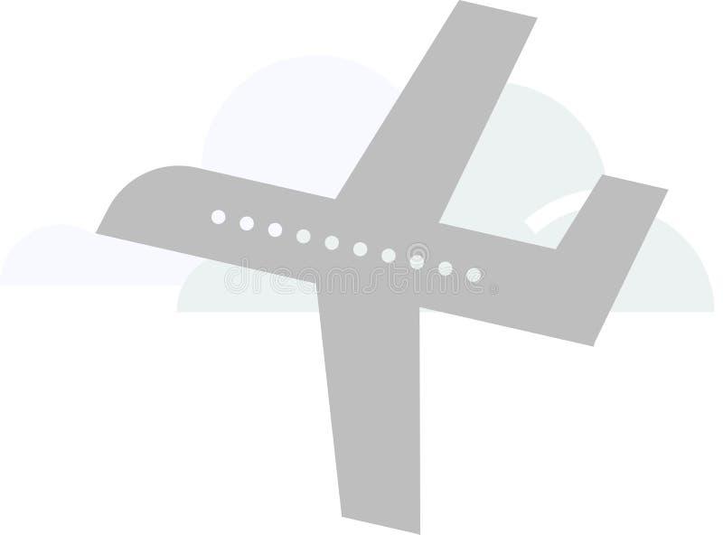 De vector van het vliegtuigembleem op een witte achtergrond vector illustratie