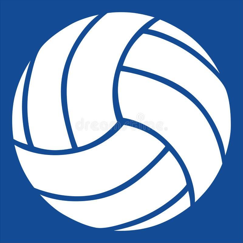 De vector van het volleyball stock illustratie