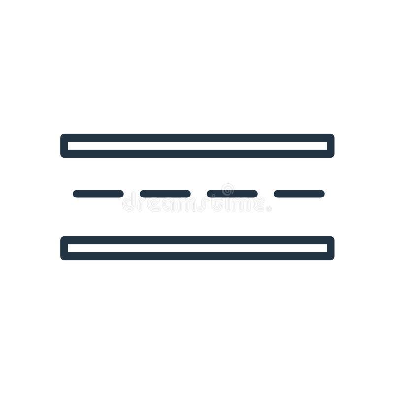 De vector van het wegpictogram op witte achtergrond, Verkeersteken wordt geïsoleerd die stock illustratie