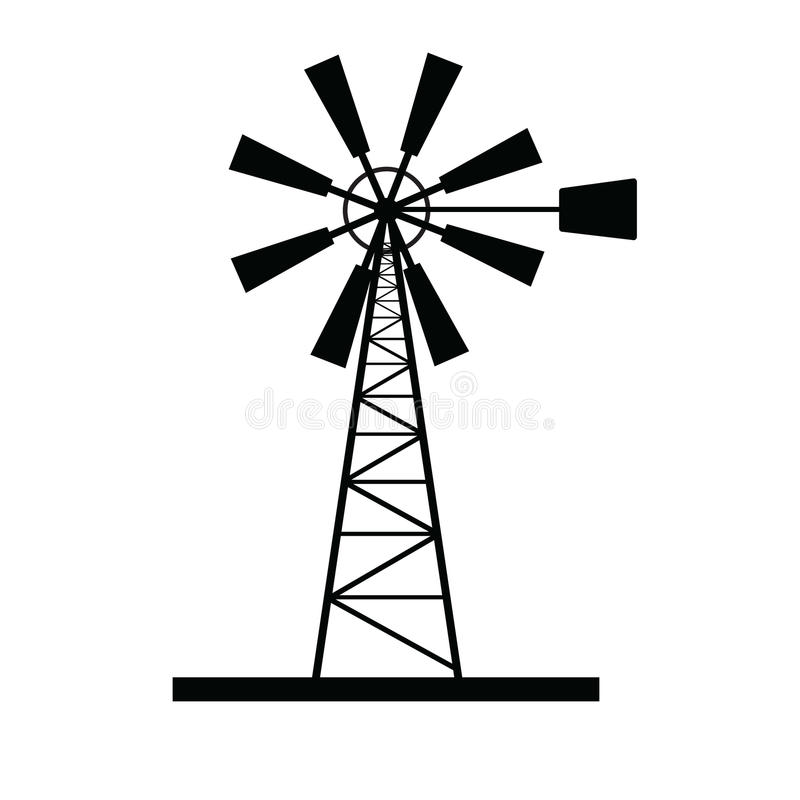 De vector van het windmolenpictogram royalty-vrije stock afbeelding
