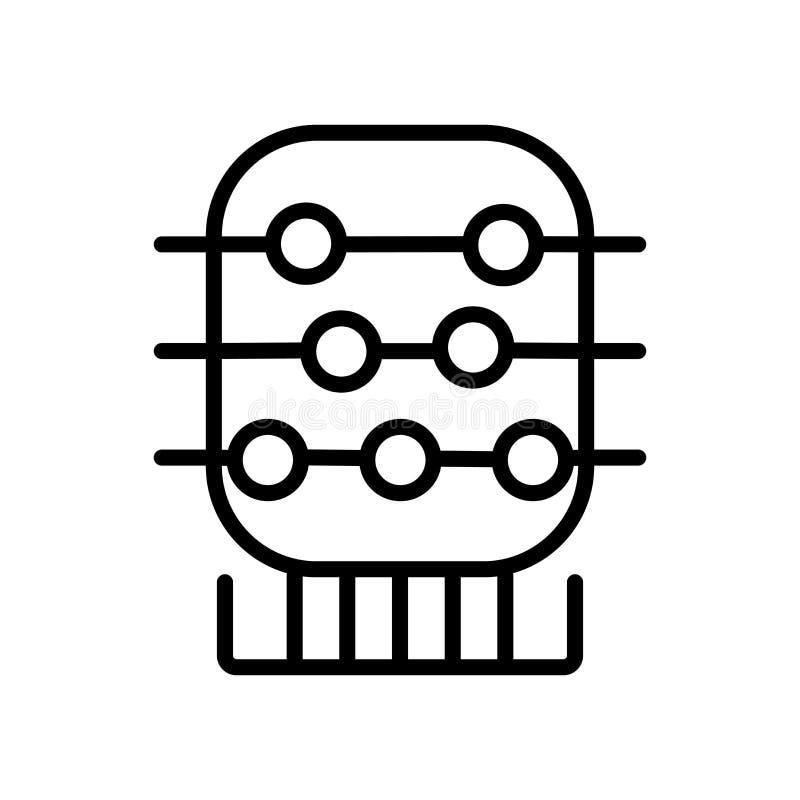 De vector van het wiskundepictogram op witte achtergrond, Wiskundeteken wordt geïsoleerd dat, lin royalty-vrije illustratie
