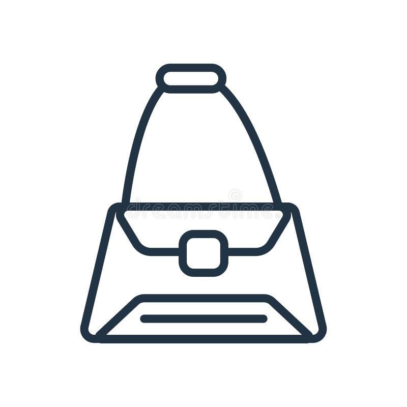 De vector van het zakpictogram op witte achtergrond, Zakteken wordt geïsoleerd dat stock illustratie