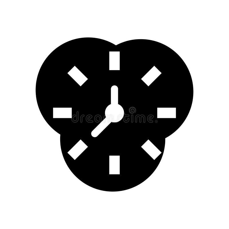 De vector van het zandloperpictogram op witte achtergrond, Zandloperteken, zwarte tijdsymbolen wordt geïsoleerd dat stock illustratie