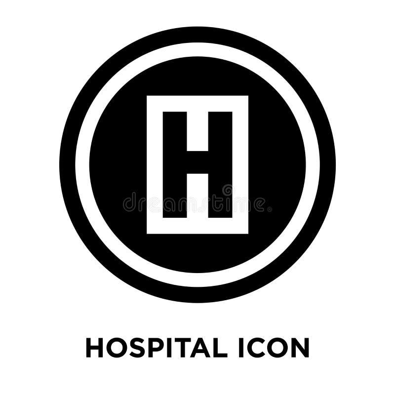 De vector van het het ziekenhuispictogram op witte achtergrond, embleemconcept wordt geïsoleerd dat vector illustratie