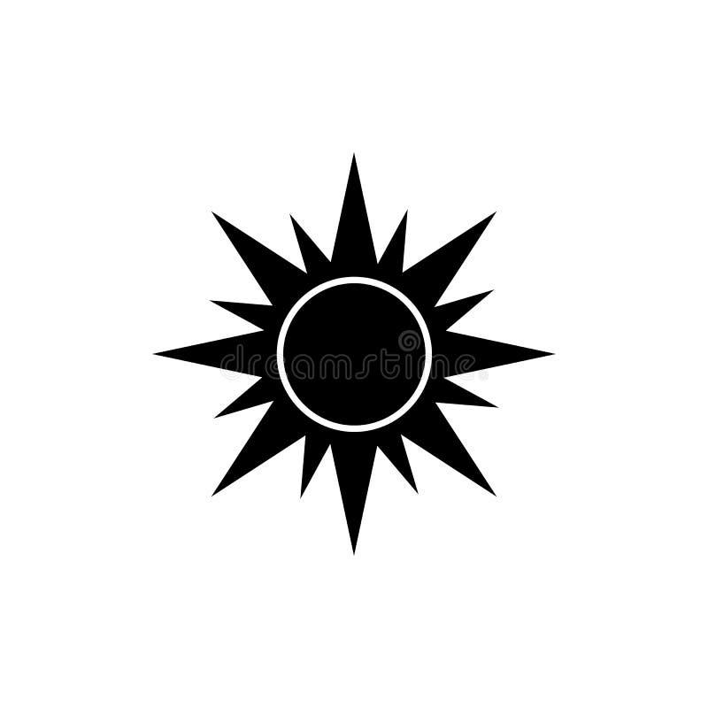 De vector van het zonpictogram vector illustratie
