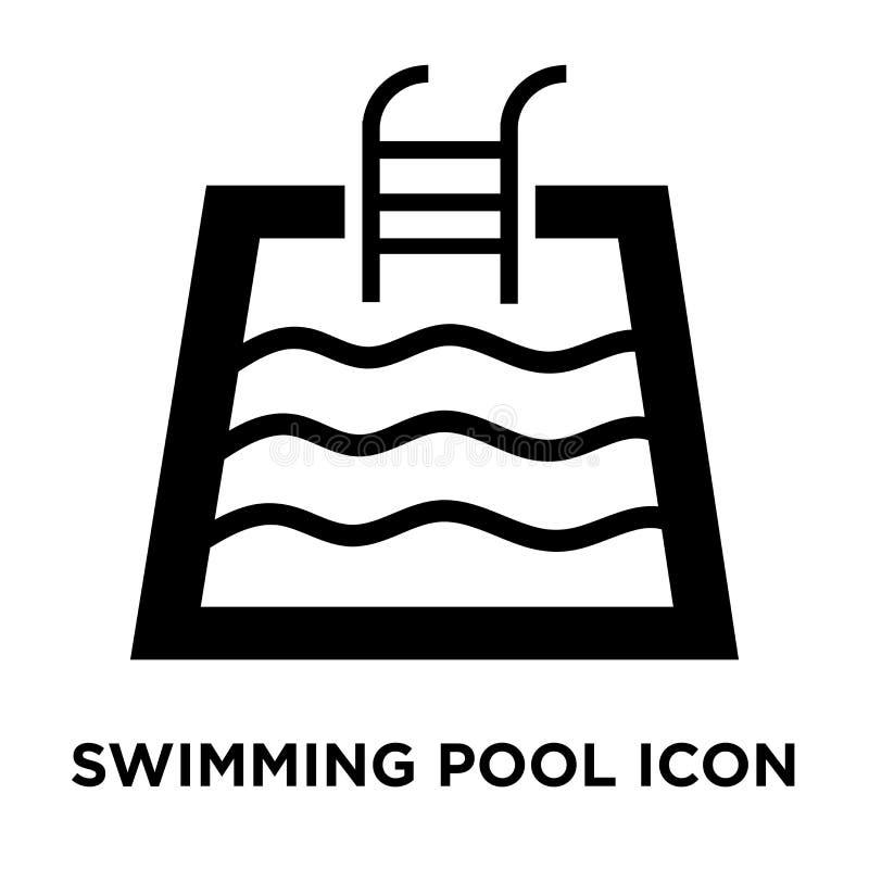 De vector van het zwembadpictogram op witte achtergrond, embleem wordt geïsoleerd dat bedriegt vector illustratie